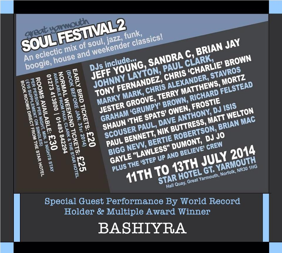 Great Yarmouth Soul Festival Weekender.2014